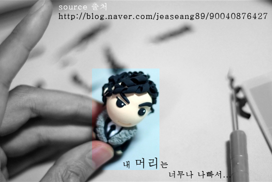 Clay-blogger Blue Panda's final touches to Master Gu ^^